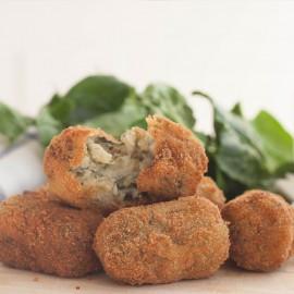 Croquetas de espinacas y queso de cabra malagueña