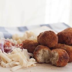 Croquetas de queso parmesano y jamón ibérico
